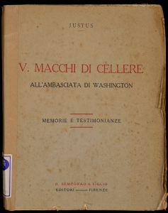 V. Macchi di Cellere all'ambasciata di Washington