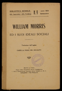 William Morris ed i suoi ideali sociali