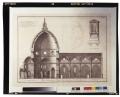 Sezione di un lato della basilica di S. Maria del Fiore e della cupola del Brunelleschi