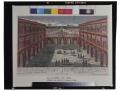 Prospettiva del Cortille del medesimo Palazzo con suo teatro ed una parte del Giardino di S.A.R. il Giardino niminato Boboli