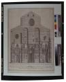 Prospetto dell'antica facciata gotica metropolitana fiorentina come si ritrovava l'anno 1856