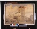 L'imbocco a sud di Ponte Vecchio rovine circostanti