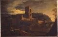 [Veduta di Firenze dall'Arno con Porta San Niccolò di Livio Mehus]