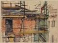 10 agosto 1993. Il tetto dell'ultimo piano d'angolo tra via Lambertesca e via dei Georgofili è ricostruito
