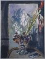 [Natura morta con vaso di fiori e tela con nudo maschile di Filippo De Pisis]