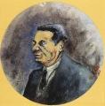 """[Ritratto di Sebastiano Timpanaro/ Collezione """"I Tondini"""" di Ottone Rosai]."""