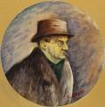"""[Ritratto di Eugenio Montale/ Collezione """"I Tondini"""" di Ottone Rosai]"""