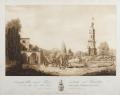 Prospetto della nuova torre esistente nel Giardino del Marchese Torrigiani