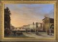 L'Arno e il Ponte Santa Trinita dal Ponte Vecchio