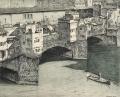 veduta di Firenze con processione