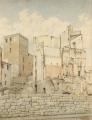 Via Guicciardini, le rovine nell'area delle case dei Machiavelli