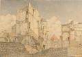Via Guicciardini, rovine nell'area delle case dei Machiavelli