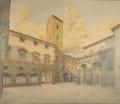 veduta di piazza S. Pier Maggiore a Firenze