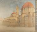 veduta di Firenze con le Cappelle Medicee