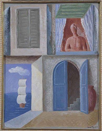 figura femminile affacciata alla finestra