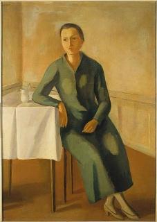interno con figura femminile