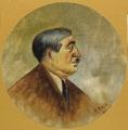 ritratto del filologo Gianfranco Contini